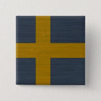 BambuLook & inristad svensk Sverige för sverige Standard Kanpp Fyrkantig 5.1 Cm