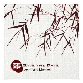 Bambulöv/dubbelt lyckabröllop för österlänning anpassningsbara tillkännagivanden