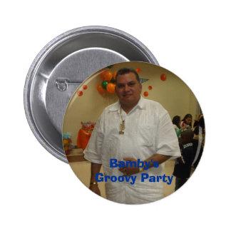 Bambys Groovy party Standard Knapp Rund 5.7 Cm