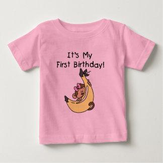 Banan - 1st födelsedag för flickaapa t shirts