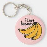 bananasrealityen bananer, älskar jag nyckel ring