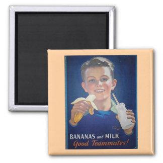 Bananer och mjölk magnet