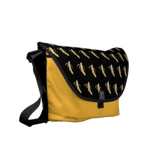 Bananmönster - beställnings- messenger bag (mörk)