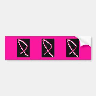 Band för bröstcancermedvetenhetrosor bildekal