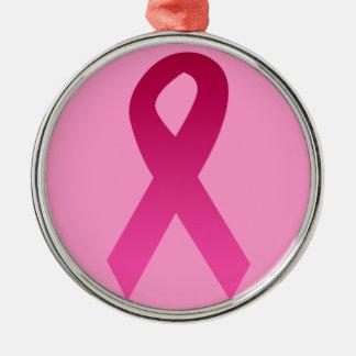 Band för bröstcancermedvetenhetrosor julgransprydnad metall