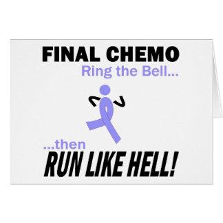 Band för lavendel för finalChemo springa mycket - Hälsningskort