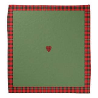 Bandana för hjärta för klanWallace Tartan