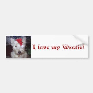 bandb 004, älskar jag min Westie! Bildekal
