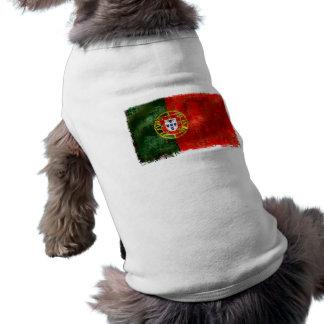 Bandeira Portuguesa - retro Estilo Långärmad Hundtöja