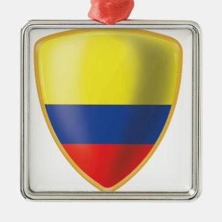 Bandera colombiana julgransprydnad metall