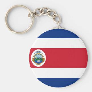 Bandera de Costa Rica - flagga av Costa Rica Rund Nyckelring