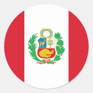 Bandera del Perú - flagga av Peru Runt Klistermärke
