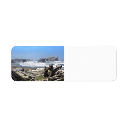 Bandon Oregon kustenreturetiketter Returadress Etikett