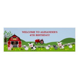 Baner för Barnyardboskapfödelsedag Poster