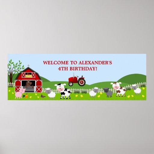 Baner för Barnyardboskapfödelsedag