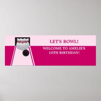 Baner för bowlingGirlBirthday party Poster