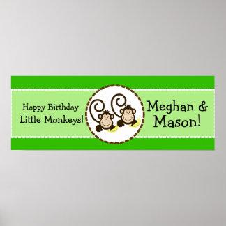 Baner för födelsedag för fånigapapersonlig print