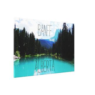 Banff smaragd sjö canvastryck