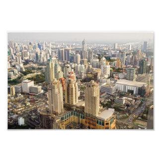 Bangkok Cityscape Fotografiskt Tryck