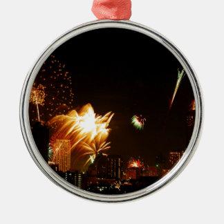 Bangkok fyrverkerier julgransprydnad metall