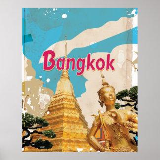 Bangkok vintage resoraffisch poster