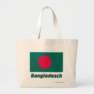 Bangladesch Flagge mit Namen Kasse