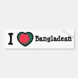 Bangladesh flagga bildekal