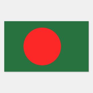 Bangladesh flagga rektangulärt klistermärke