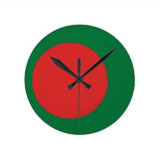 Bangladesh flagga rund klocka