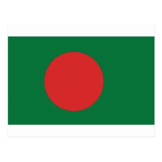 Bangladesh flagga vykort