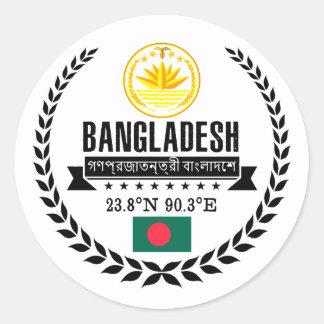 Bangladesh Runt Klistermärke