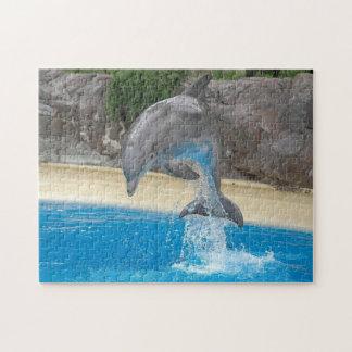 Banhoppningdelfinpussel Pussel