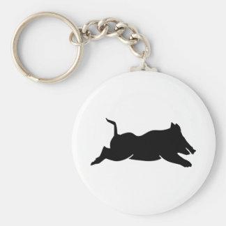 Banhoppningvildsvin Rund Nyckelring
