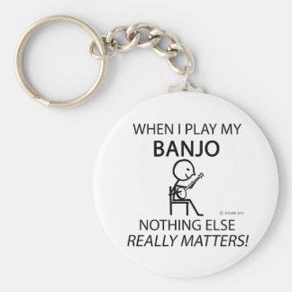 Banjo ingenting annars materier rund nyckelring