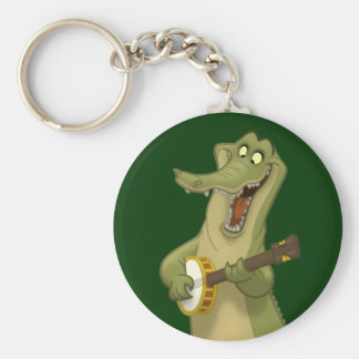 Banjo-Strummin'alligator Keychain Rund Nyckelring