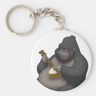 Banjo-Strummin'gorilla Keychain Rund Nyckelring