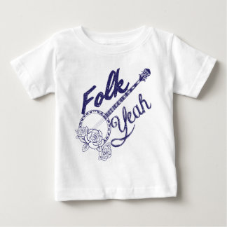 Banjoen för musik för Wellcoda Folk Yeah steg den T Shirts