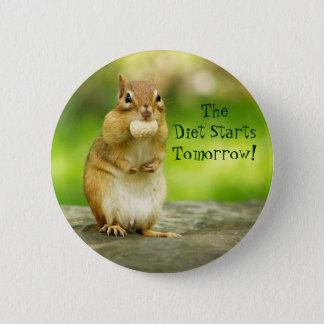 Banta jordekorren för starter i morgon standard knapp rund 5.7 cm