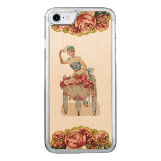 Bantar den rosa säljareiPhonen 5/5S för den RETRO Carved iPhone 7 Skal