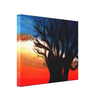 Baobabträdmålning Sträckt Kanvastryck