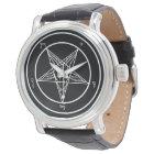 Baphomet kyrka av den Satan eleganten Armbandsur