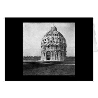 Baptistery i Pisa, italien 1898 Hälsningskort