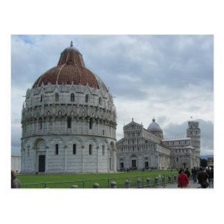 Baptistry och torn av Pisa Vykort