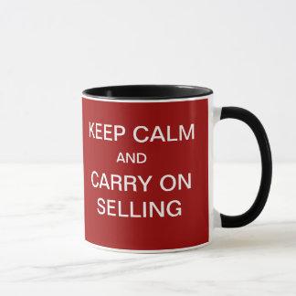 … Bär behållalugn på att sälja rolig Saleslogan Mugg