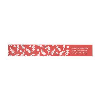 Bär & röd etikett för automatiskt linjeskift för