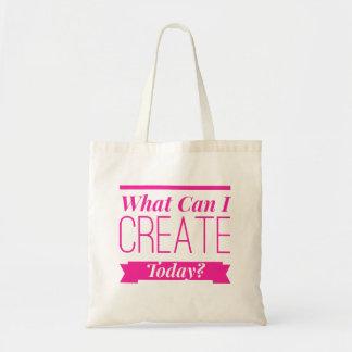 Bära på i rosa bokstäver, vad kan mig skapa i dag budget tygkasse