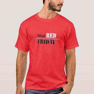 Bära som är röd på fredag tröja