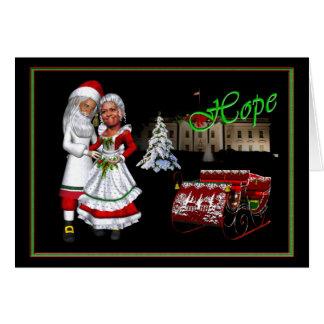 Barack & Michelle Obama jul Hälsningskort