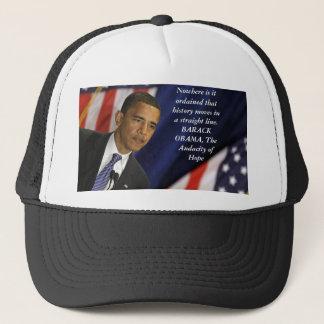 Barack Obama citationstecken på historia Truckerkeps