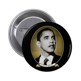 Barack Obama dollarporträtt Knapp Med Nål